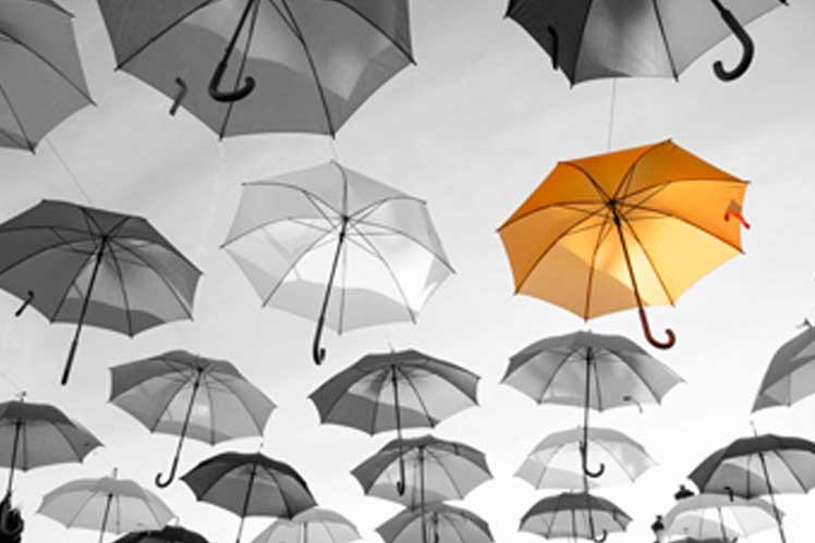 Umbrellas branded printed